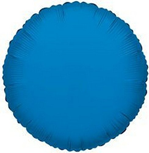 Kaleidoscope Royal Blue Round Foil Mylar Balloon, 18
