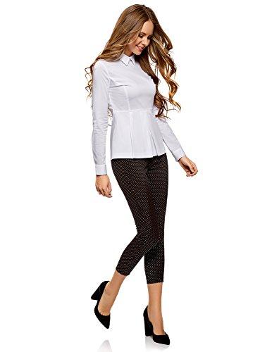 Básica Blusa Oodji Volante Mujer Con 1000n Blanco Ultra qtqB6pK1v