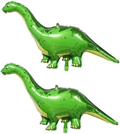 DYNWAVE 2個の恐竜ホイルの風船の誕生日の子供のおもちゃの膨脹可能な写真の小道具