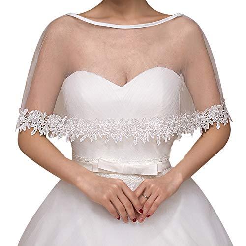 AdorabFitting Wedding shawl summer bridal gown one-shoulder lace thin section transparent gauze shawl