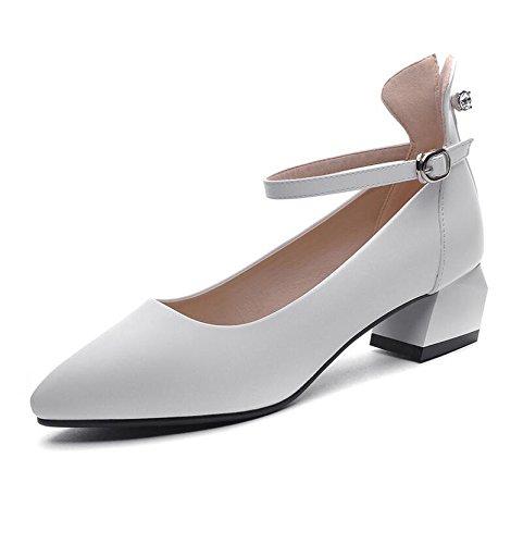 Est Femmes Une Rugueuse Fente Blanc 4Cm Point Les 38 Tendance De Chaussures Light À Et La De Autres Fixations nbsp; Chaussure Avec KHSKX Printemps Détails q5gXwnYwf