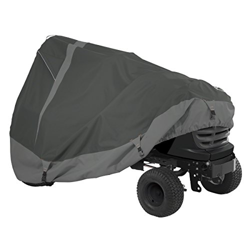 "Classic Accessories 52-148-380301-00 Heavy Duty Lawn Tractor Cover, Black, Up to 54"" Decks"