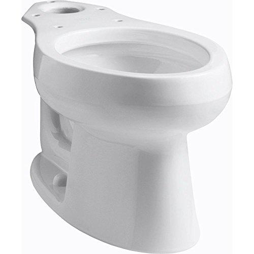 KOHLER K-4198-0 Wellworth Elongated Toilet Bowl, White