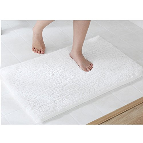 LOCHAS Soft Shaggy Bath Mat Bathroom Rug Anti-slip Floor Mat