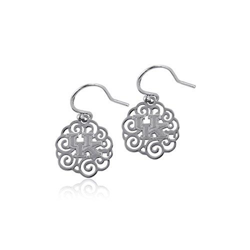 (University of Kentucky Wildcats UK Sterling Silver Jewelry by Dayna Designs (Filigree Earrings))