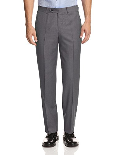 GN GIORGIO NAPOLI Men's Suit Separates Dress Pants Flat Front Classic Modern Fit (44 W/Unhemmed, Light Gray) - Mens Pleated Trousers