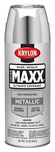 - Krylon K09196000 COVERMAXX Spray Paint, Metallic Silver, 11 Ounce