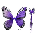 SaveStore 2 PCS Monarch Butterfly Wing Headband Sparklers Glitter Cosplay Costume Fairy Costume Halloween Children Girl
