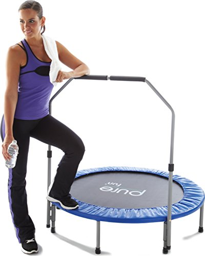 "Pure Fitness 48"" Mini Rebounder Trampoline With Adjustable"