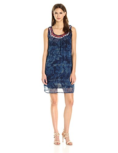 Desigual Women's Edi Woven Strapless Dress, Navy, M
