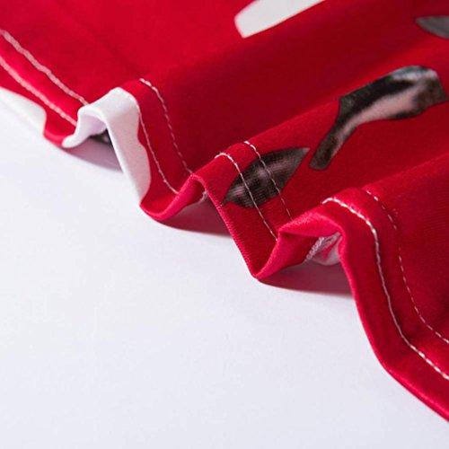Rosso Lunga A Moda Donna 4 Partito Lungo V Vestito Manica Scollo Allentata Abito E Da Sexy 3 Stampa ALIKEEY Delle Casual Vestito Lungo Donne vpqwAWWg