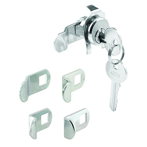(Prime-Line S 4140 Mailbox Lock - Replacement, Multipurpose Mailbox Lock for Several Brands - Nickel Finish, ILCO 1003M Keyway, Opens Counter-Clockwise with 90º Rotation)