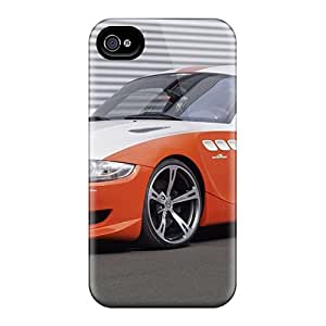 High Impact Dirt/shock Proof Case Cover For Iphone 4/4s (orange Bmw Z4)