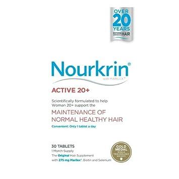 Nourkrin Active 20 + 30 comprimidos (1 mes de suministro): Amazon.es: Salud y cuidado personal