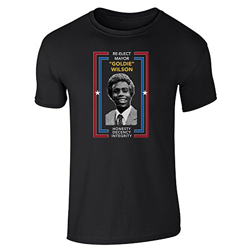 Re-Elect Mayor Goldie Wilson Campaign Black M Short Sleeve ()