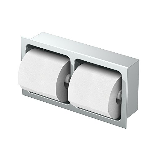 Gatco 782A Double Recessed Tissue Holder Chrome Doube Recessed Tissue Holder by Gatco (Image #1)