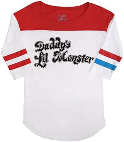 Suicide Squad Harley Quinn Daddy's Lil Monster Raglan