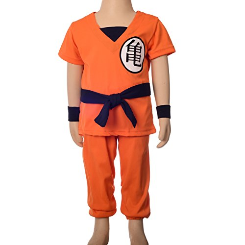 Dragon Ball Costume For Kids (Dressy Daisy Boys' Dragon Ball Z Son Goku Fancy Costumes Set Outfit Halloween Party Size 6-8)