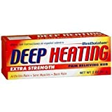 Mentholatum Deep Heating Pain Relieving Rub, Ultra Strength, 2 Tubes each, Pack of 5
