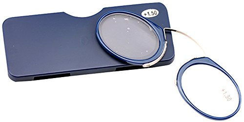 9cbad9917917 Galleon - SOOLALA Go Everywhere SOS Pince Nez Style Nose Resting Pinching  Reading Glasses (Blue