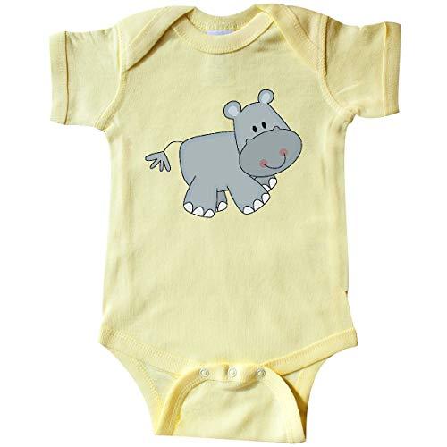 inktastic Hippo Infant Creeper Newborn Banana Yellow (Hippo Baby Clothes)