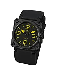 INFANTRY® Men's Analog Quartz Wrist Watch Square Sport Military Army Sport Rubber Band