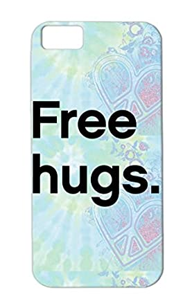 Free Hugs Black Chalet Font Funny Graphic Design Satire Funny