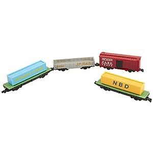 Amazon Com Power Trains 4 Car Pack Freight Train Car Pack Toys