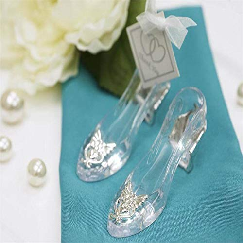 - BalsaCircle 36 pcs Silver Cinderella Slippers Favors Holders - Wedding Party Candy Gift Accessories Decorations Supplies
