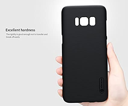 low priced a4119 00dea Nillkin Frosted Shield Hard Plastic Back Cover Case for Samsung Galaxy S8  (5.8 inch)- Black