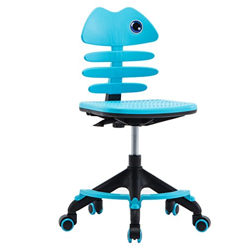 Furniture Kids Desk Childrens Tables (Lansen Furniture Children Desk Office Swivel Chair Kids Study Table Chairs Teens No Tools with Seat Mat(Blue))