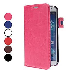 Cute Design PU Leather Case with Stand and Card Slot for Samsung Galaxy S4 I9500 (Assorted Colors) --- COLOR:Rose