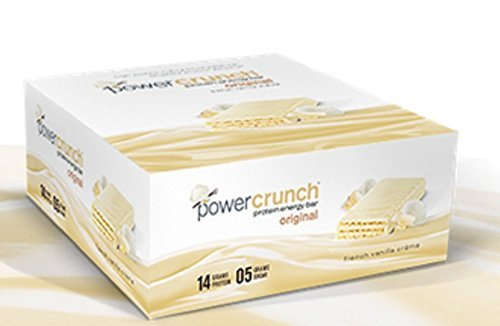 Power Crunch - Power Crunch Bar - French Vanilla Cream -12 bars of 1.4oz - Crunch Case