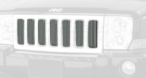 T-rex Vertical Bumper Billet Grille - TRex Grilles 30485 Vertical Aluminum Polished Finish Billet Grille Bolt-on for Jeep Commander