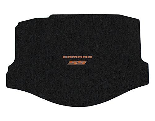 (Lloyd Mats - Classic Loop Ebony Standard Trunk Mat for Camaro SS Convertible 2011-15 with Orange Camaro SS Logo)