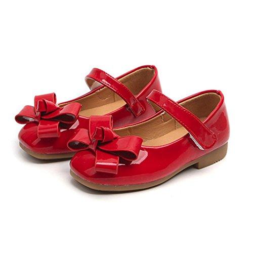 Zapatos LMMVP Niña suaves Sneaker Sandalias Rojo pequeños casuales bebés niña Bowknot de ocasionales para Zapatos Niños a1qHTa