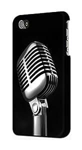 E1672 Retro Microphone Jazz Music Funda Carcasa Case para IPHONE 5 5S