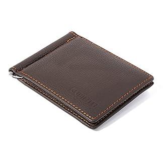 d03d5716d3 XCSOURCE raccoglitore degli uomini Ecopelle Slim Bifold Portafoglio Nero  Con 6 posizioni per carte + Nota Pocket Money Clip + MT252