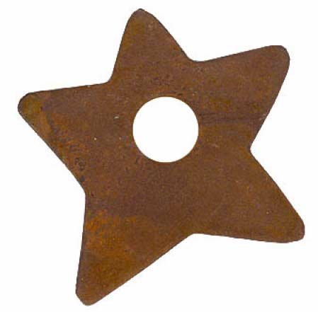 Set of 30 Rusted Star Candle or Lamp Oil Toppers for Finishing Homemade Candles, or Oil Lamps -
