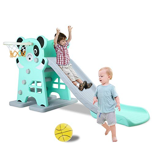 Best Deals! LAZY BUDDY Kids Slide, Sturdy Toddler Playground Slipping Slide Climber for Indoor Outdo...