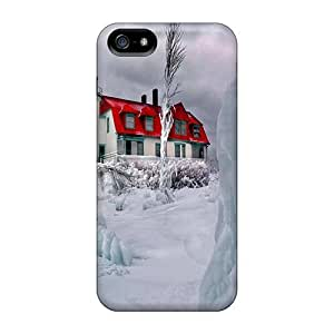 Awesome BmyBaEp2153AeUgV Mwaerke Defender Tpu Hard Case Cover For Iphone 5/5s- Winter Mountain Hostel