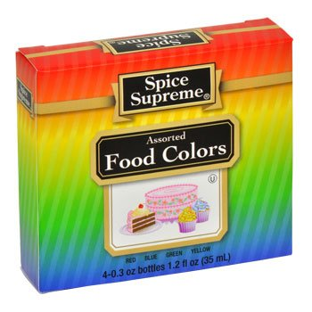 (Spice Supreme Assorted Food Colors Red Blue Green Yellow 1.2 Oz)