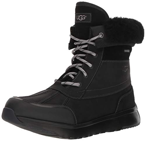 UGG Men's ELIASSON Snow Boot, Black, 10.5 Medium US