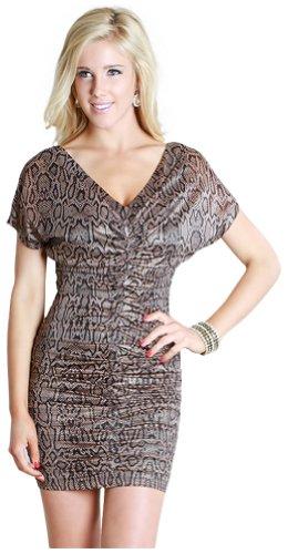 metallic animal print dress - 2