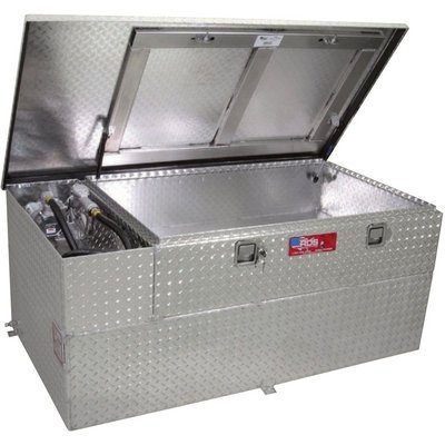 RDS Fuel Transfer/Auxiliary Tank/Toolbox Combo with 15 GPM Pump - 90-Gal. Capacity, Diamond Plate, Model# 73960