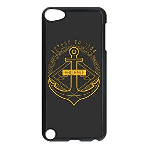 iPod Touch 5 Case Black Refuse to Sink KKT Phone Case Hard Back