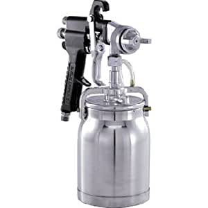 General Purpose Paint Sprayer Gun - Pattern and Fluid Control handheld Sprayer w/ 32-ounce Anti-Drip Canister (Campbell Hausfeld DH650001AV)