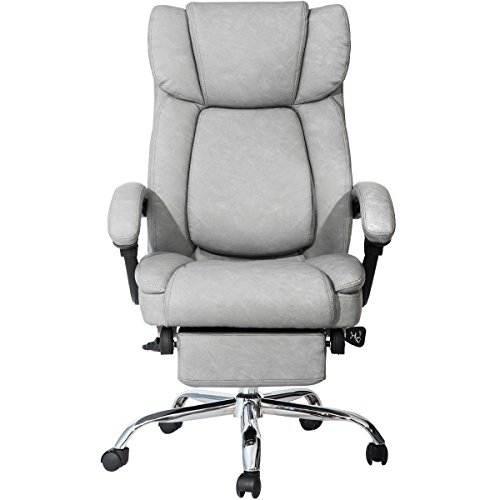 Merax Inno Series Executive High Back Napping Chair with Ajustable Pivoting Lumbar and Padded Footrest for Home and (Series High Back Executive Chair)