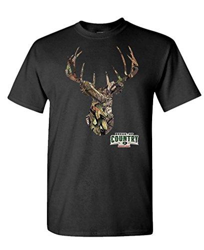 DEER MOSSY OAK camoflage hunting hunter - Mens Cotton T-Shirt, L, Black