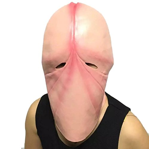 Funny Head Mask,Penis Dick Head Latex Mask Prank Party Costume Hen Stag Halloween For Joke Gift By Makaor (Fits most adult heads, (Costumes Jokes)